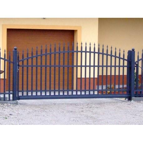Brána - oblouková, posuvná 350 cm x 155 cm