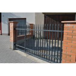 300 cm x 155 cm brána rovná se špičkami dvoukřídlá