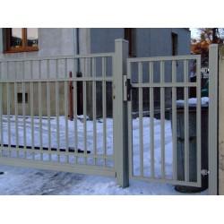 300 cm x 155 cm brána balustrádová dvoukřídlá