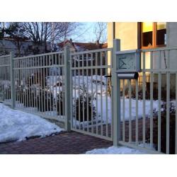 400 cm x 155 cm brána balustrádová dvoukřídlá