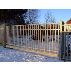 300 cm x 155 cm brána balustrádová posuvná