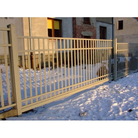 350cm x 155 cm brána balustrádová posuvná