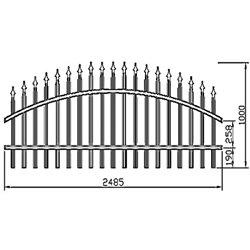 Plotové kovové pole Standard - obloukové 2500 mm x 1000 mm