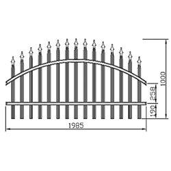 Plotové kovové pole Standard - obloukové 2000 mm x 1000 mm