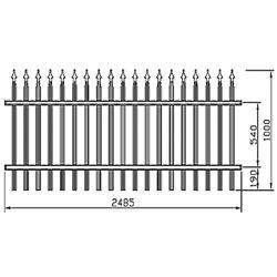 Plotové kovové pole Standard - rovné 2500 mm x 1000 mm