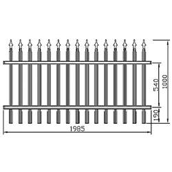 Plotové kovové pole Standard - rovné 2000 mm x 1000 mm