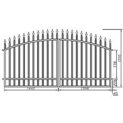 Brána - oblouková, dvoukřídlová 300 cm x 155 cm