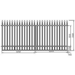 Brána - klasická, dvoukřídlová 350 cm x 150 cm