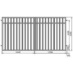 Brána - balustrádová, dvoukřídlová 300 cm x 150 cm