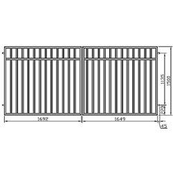 Brána - balustrádová, dvoukřídlová 350 cm x 150 cm