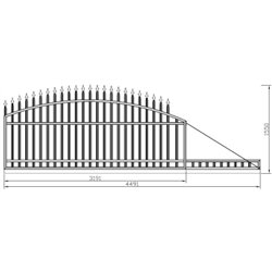 Brána - oblouková, posuvná 300 cm x 155 cm