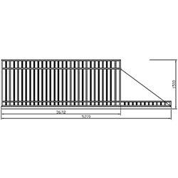 Brána - balustrádová, posuvná 350 cm x 150 cm